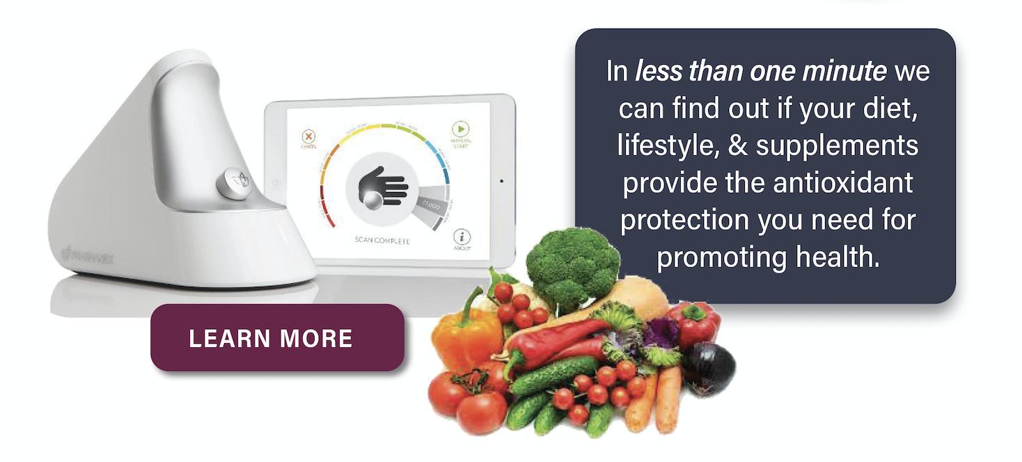 Antioxidant hand scanner